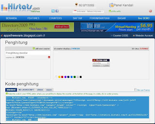 kode widget histats