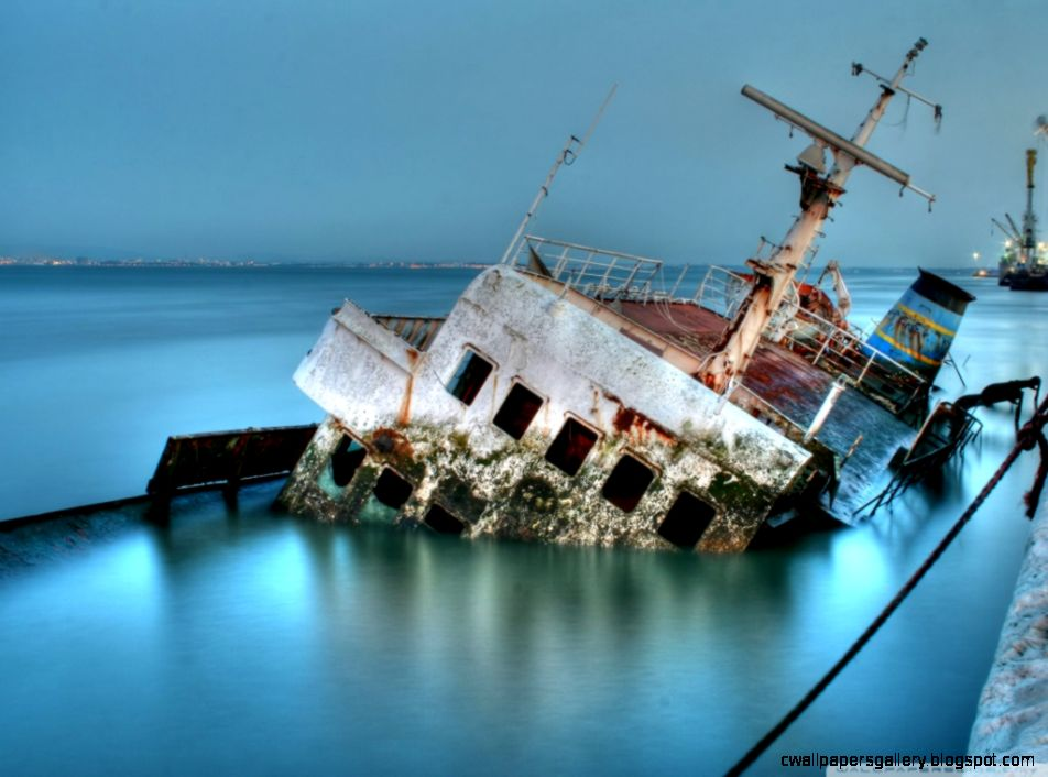 Sunken Ship HD desktop wallpaper  Widescreen  High Definition