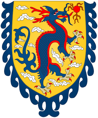 Dragon d'azur sombre  Arms_of_the_Qing_Dynasty