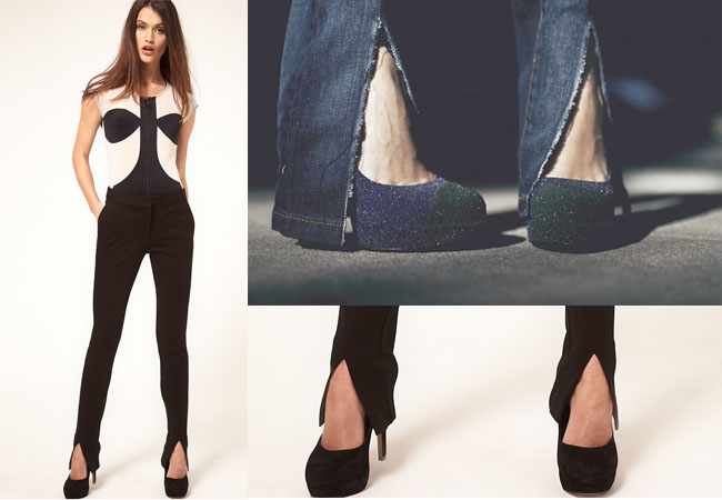 slit trousers,slit pants,ankle slit,trousers diy,hem diy,now sew,fashion diy