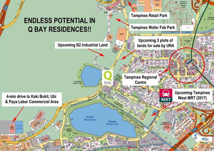 Qbay residences location the location of qbay residences tampines is the envy of many it is near the future downtown line station tampines mrt station and bus interchange sciox Images