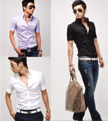 New Fashion Lay Latest Trend Summer Dress Shirts Trend For Boys 2013