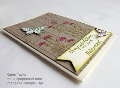 Stampin' Up! Retirement card, Wild About Flowers