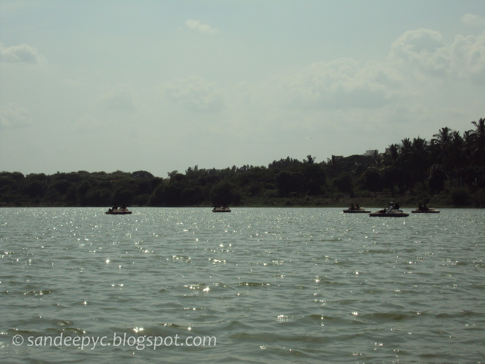 boating at nagavara lake