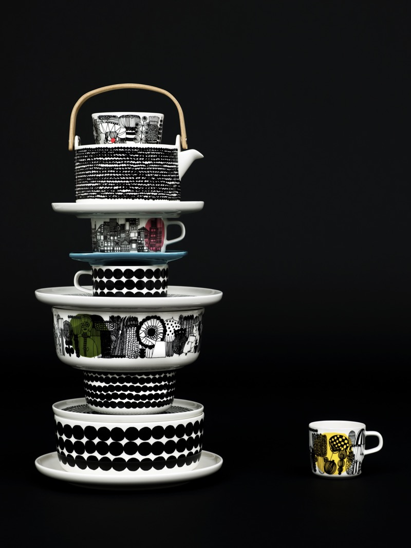 Marimekko black and white table wear
