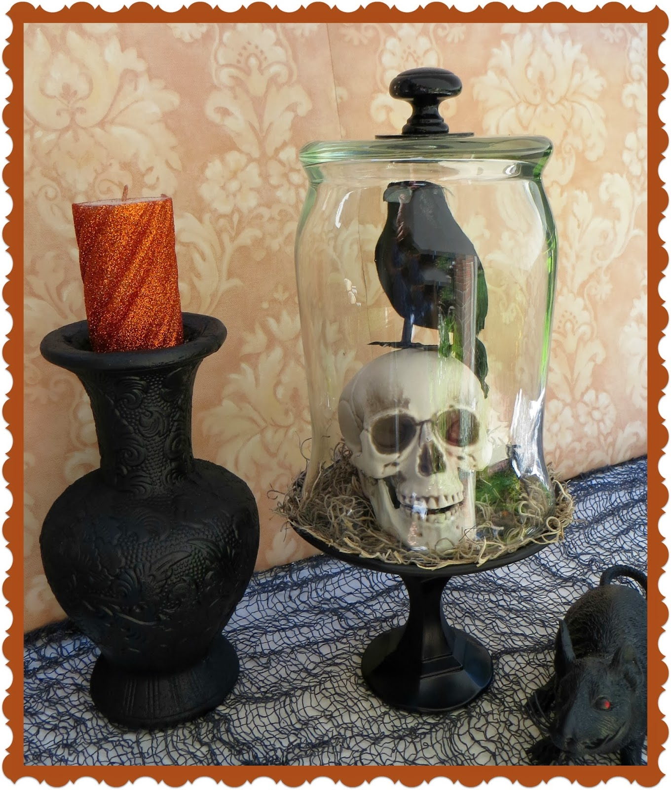 glass cloche diy glass cloche diy bell jar halloween decorations skull
