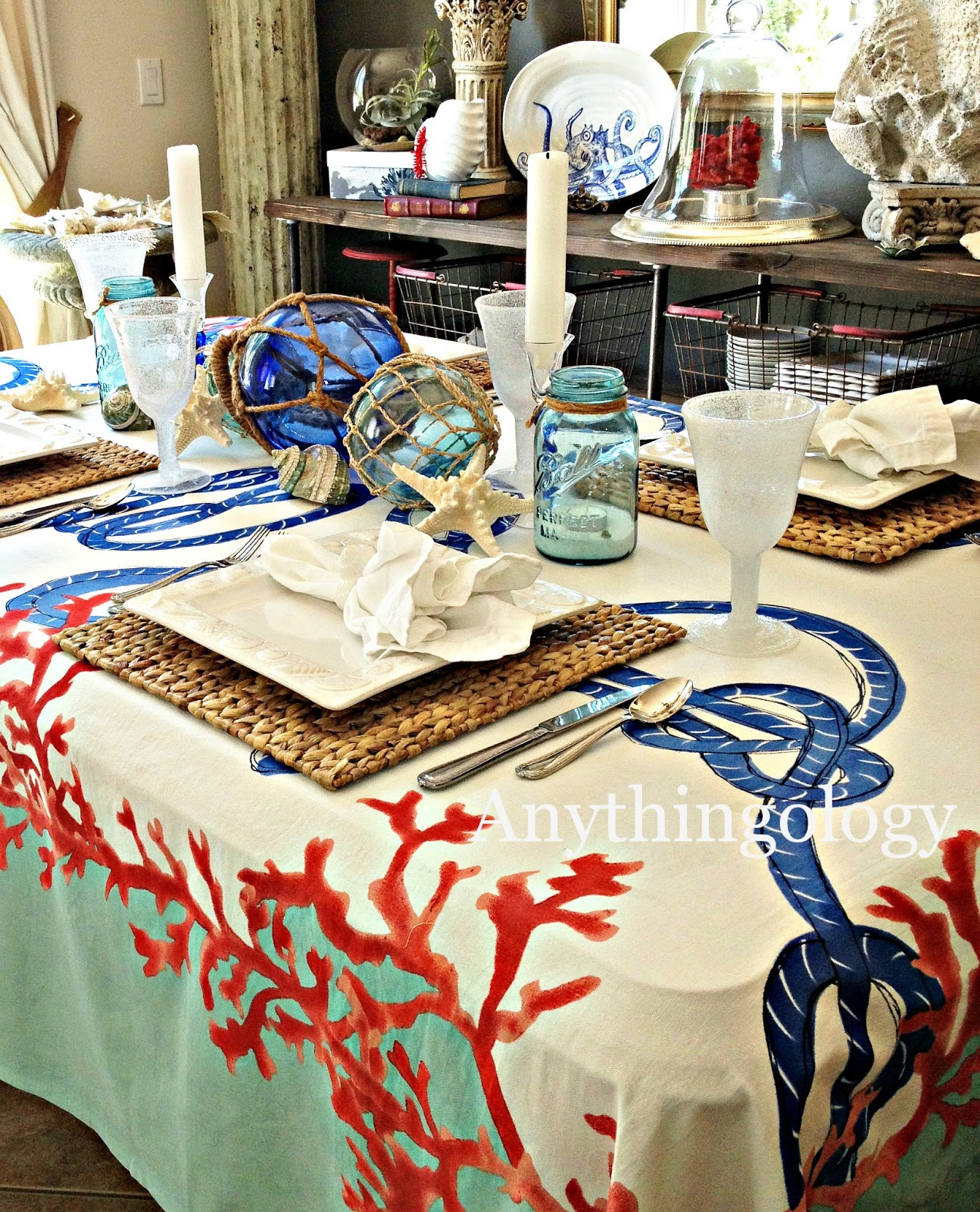 Nautical Table Settings Anythingology Nautical Dinner Party