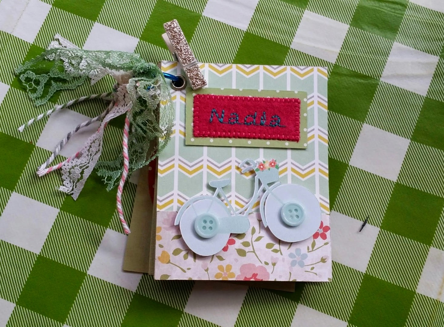 Handmade design for scrapbook cover