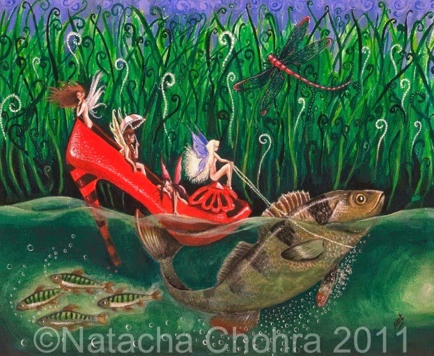 The Ruby Slipper by Enchanted Visions Artist, Natacha Chohra