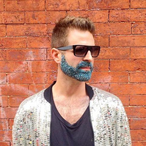 glitterbeard, como usar barba