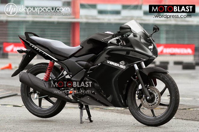 Gambar Modifikasi Honda Verza 150 Full Fairing Sport