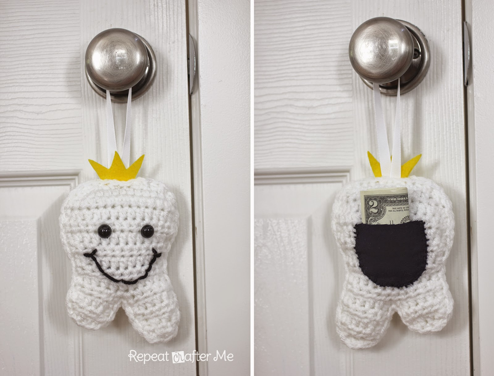 Free Crochet Pattern Tooth Fairy Pillow : Repeat Crafter Me: Crochet Tooth Fairy Pillow