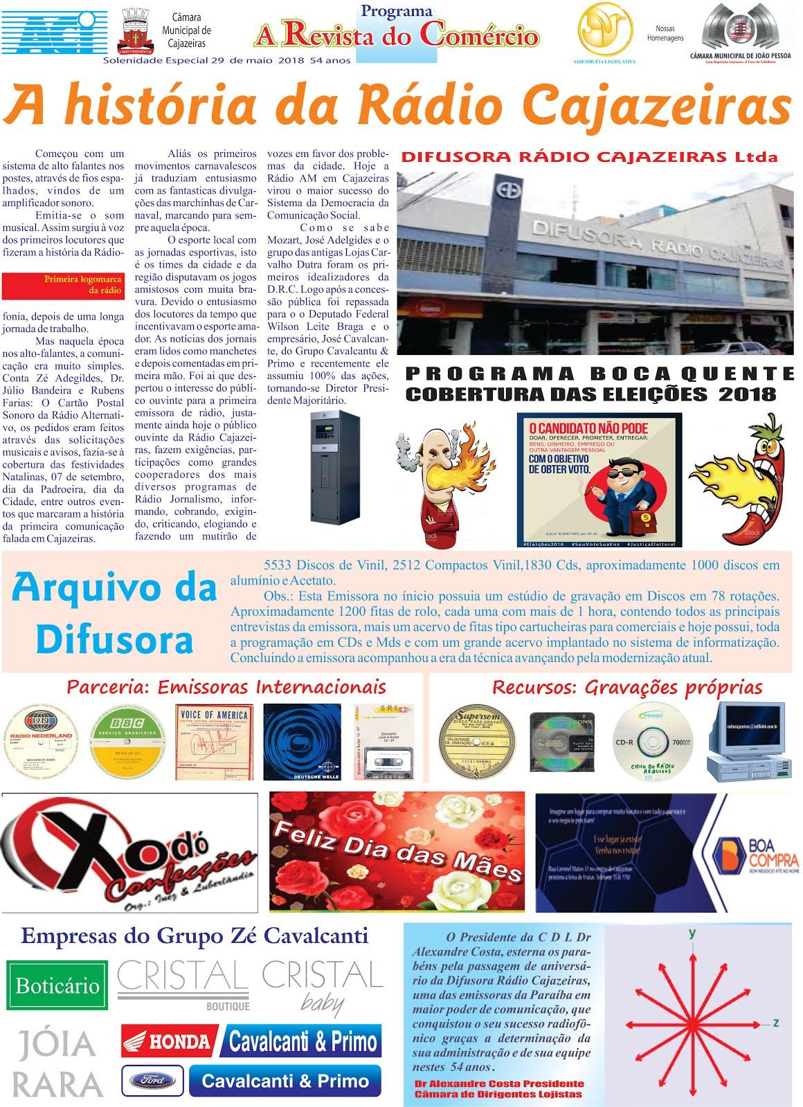 ANIVERSÁRIO DA DIFUSORA  RÁDIO CAJAZEIRAS  PARAÍBA