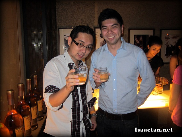 Yours truly with Ah Bok and Glenmorangie in hand