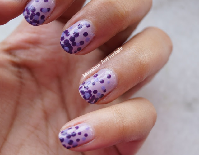 Purple Monochrome Mani-a Nail art