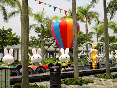 Cute bunnies display in Tsim Sha Tsui Hong Kong