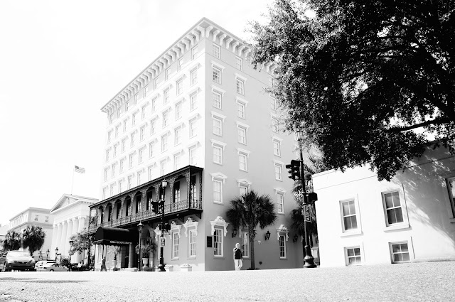 4 black and white building picture