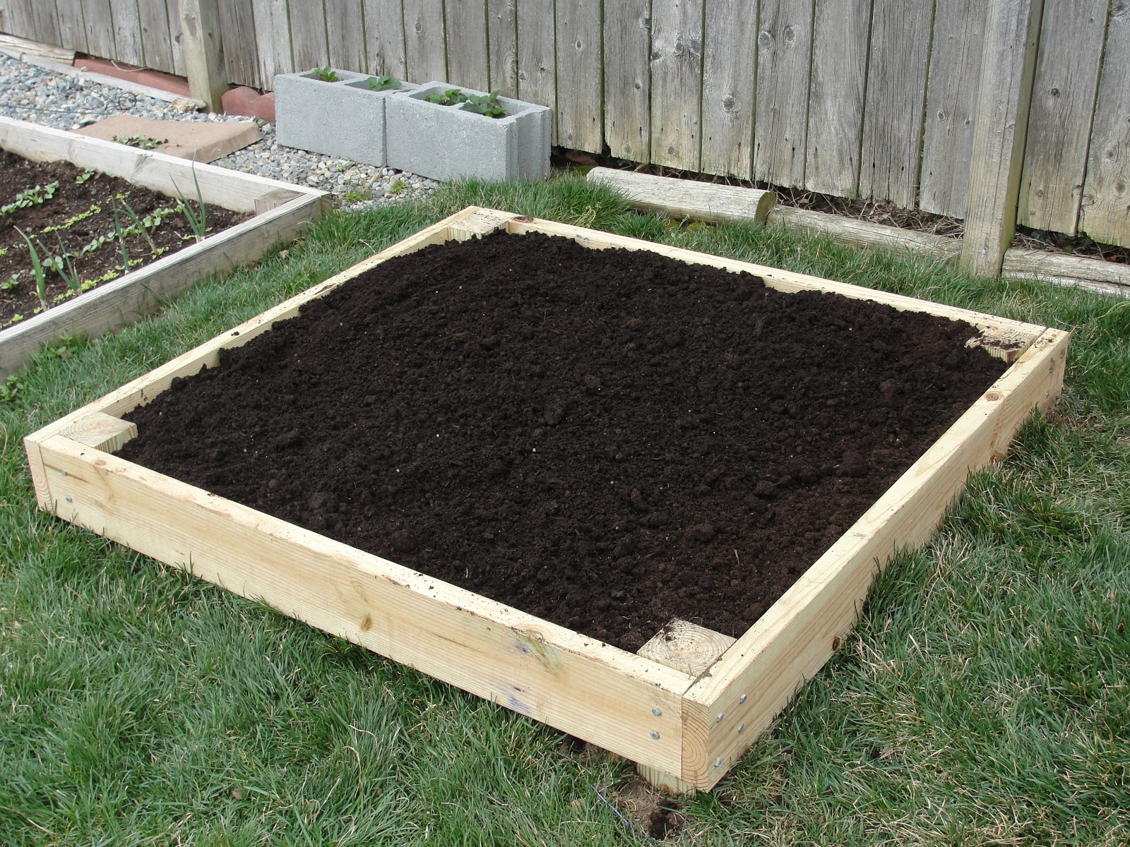 Lessons from the garden build your own raised bed for How to make a small garden