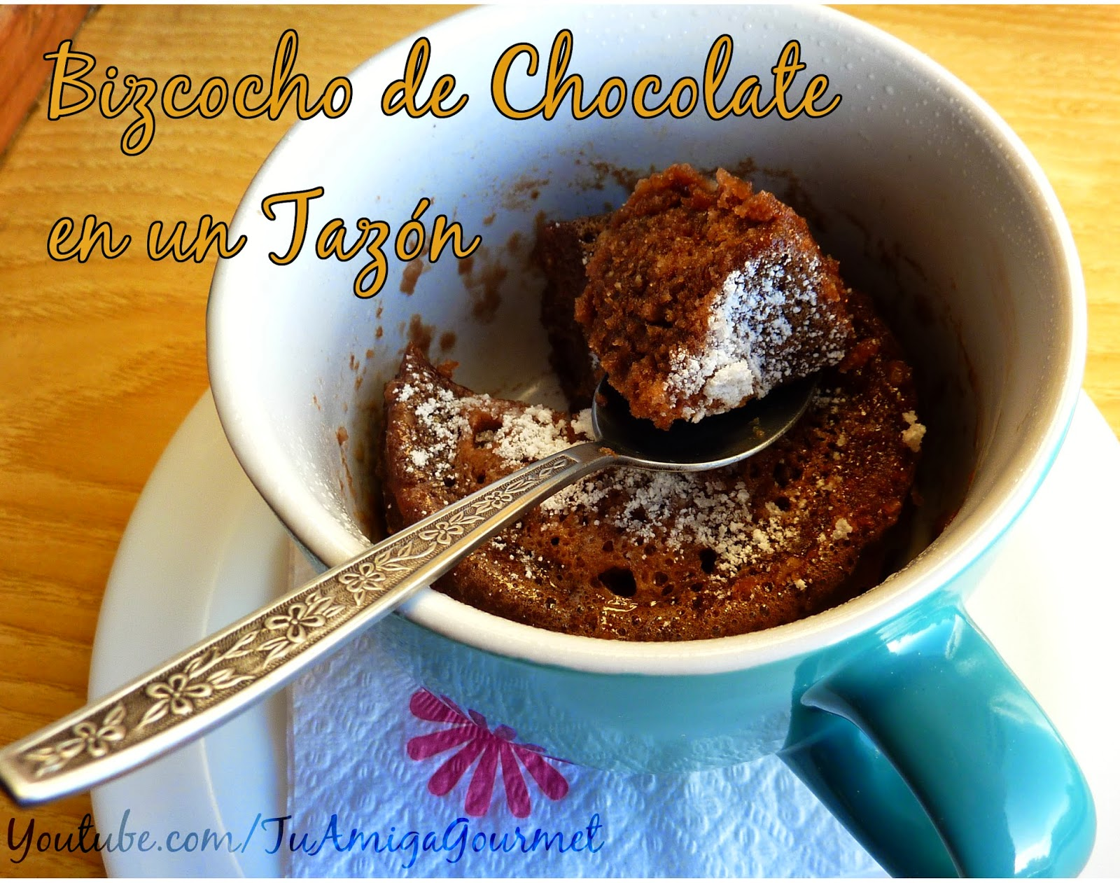 Receta para Microondas: Bizcocho de Chocolate en un Tazón