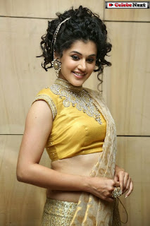 Actress Tapsee Pannu Pictures in Golden Saree at Elite Designer Fashion Show 0011