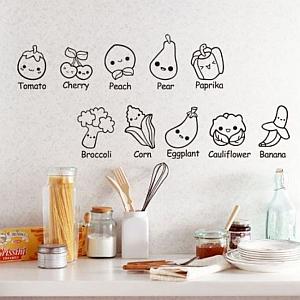 Multinotas pegatinas para pared cocina - Pegatinas para cocinas ...