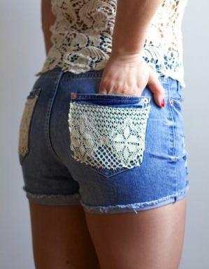 Shorts decorados tutorial