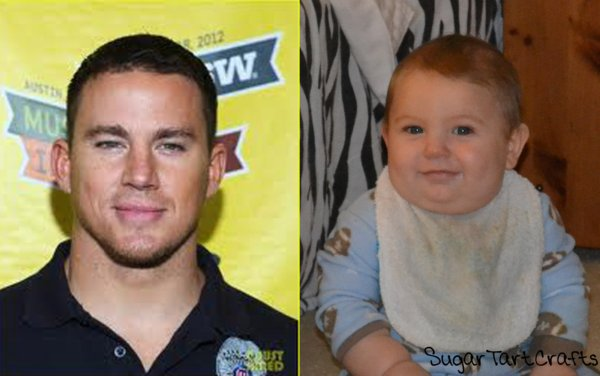 baby looks like Channing Tatum