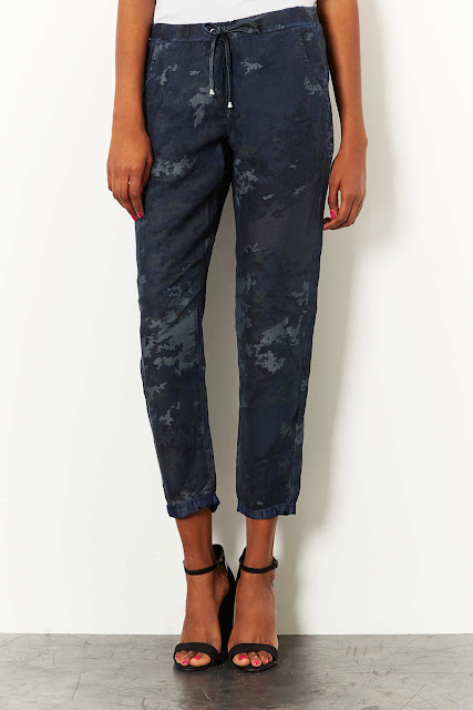 camp print trousers