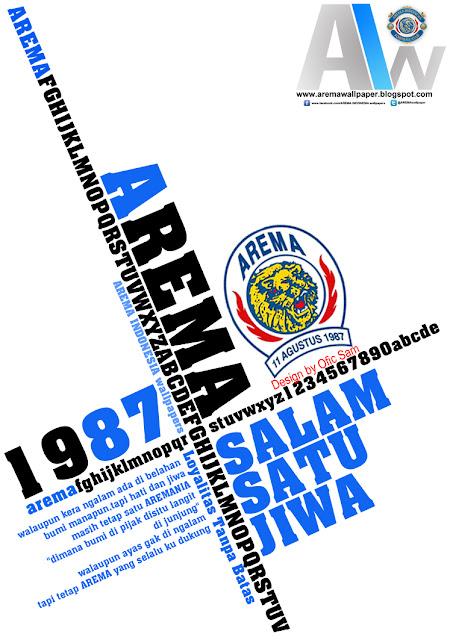 The Football Soccer Salam Satu Jiwa Arema Wallpaper
