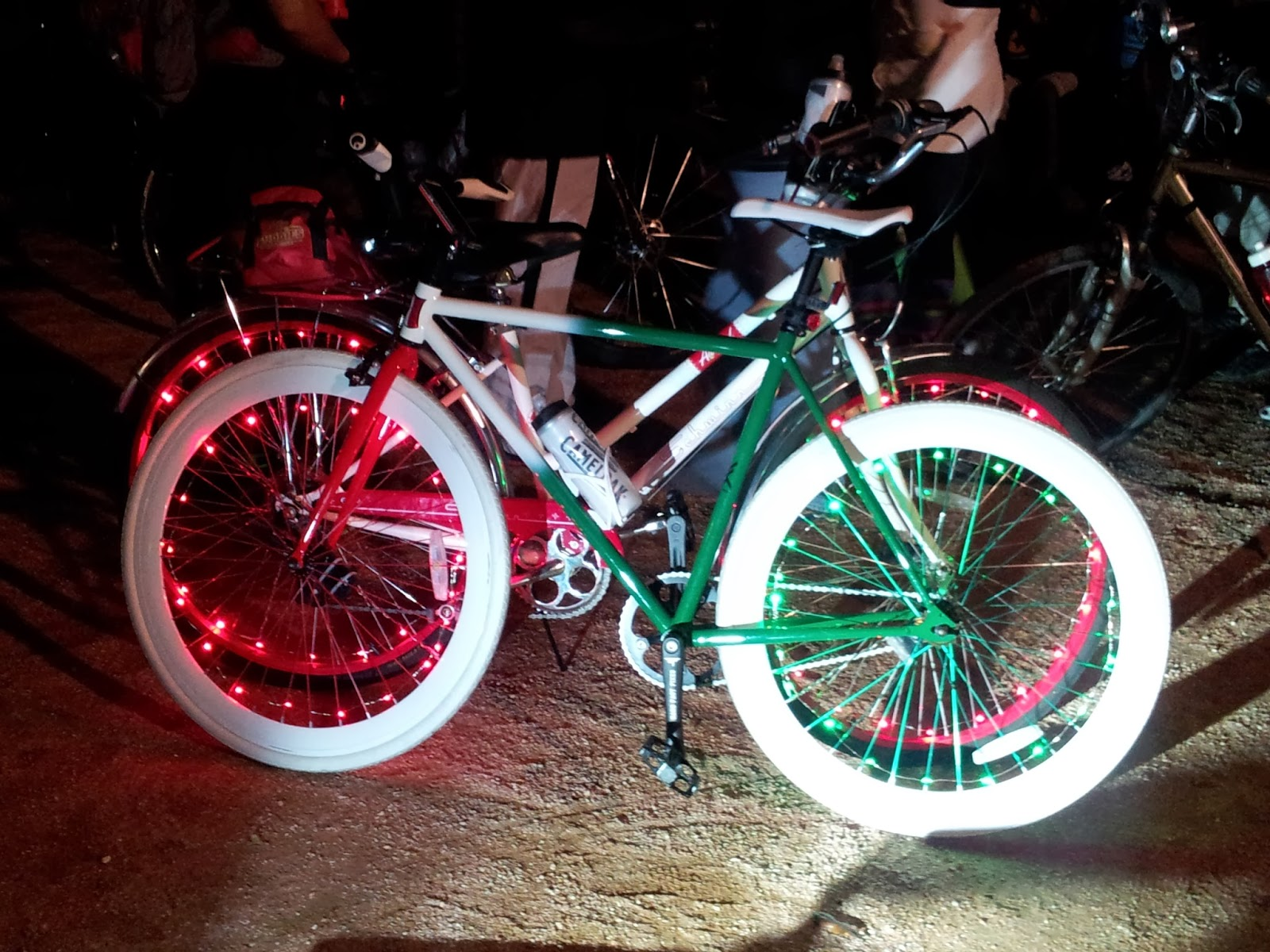 Critical Mass Bike Ride In Houston, customized bikes