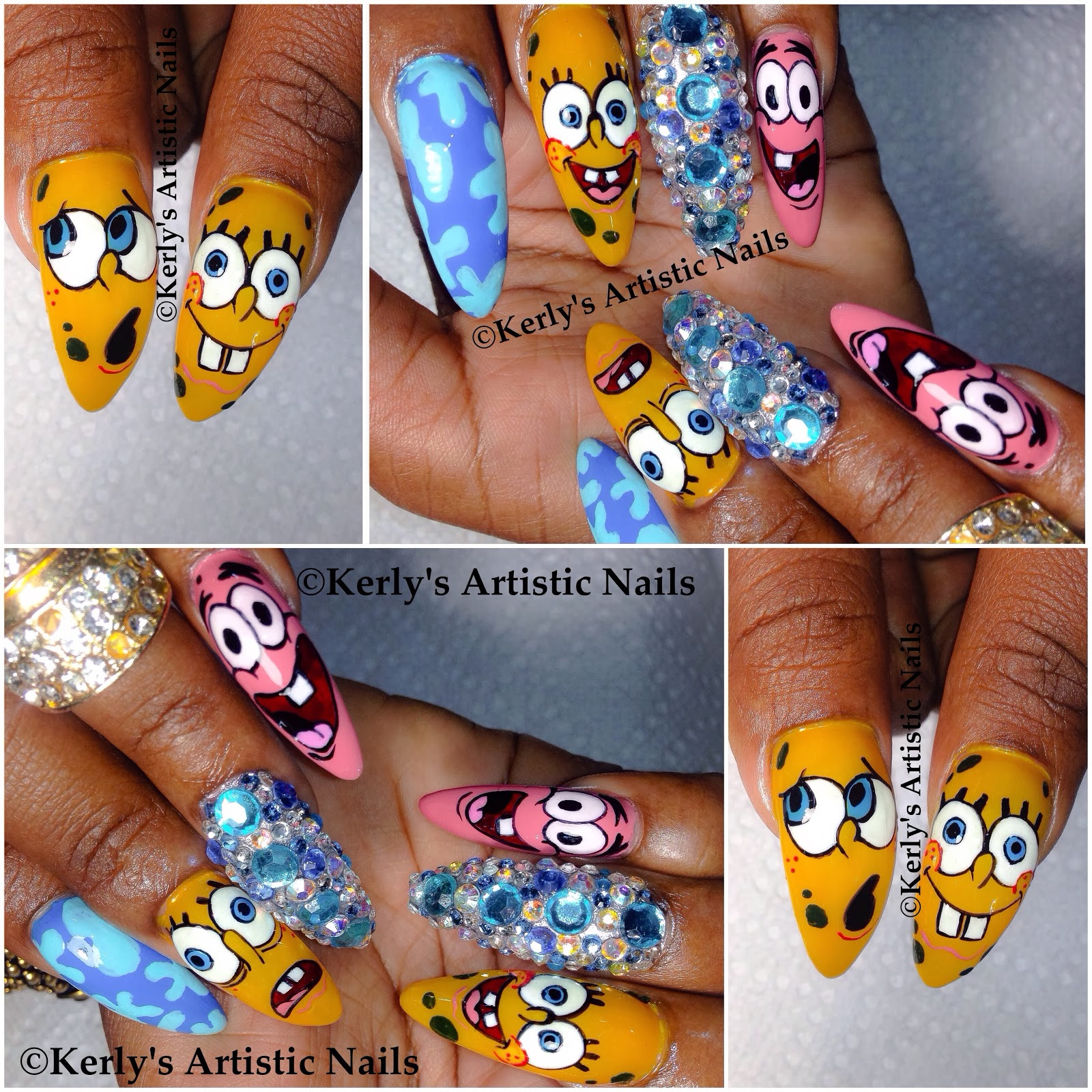 Artistic nail art designs artistic nails artistic nail art kerlys artistic nails spongebob squarepants and patrick nail art artistic nail art designs prinsesfo Image collections