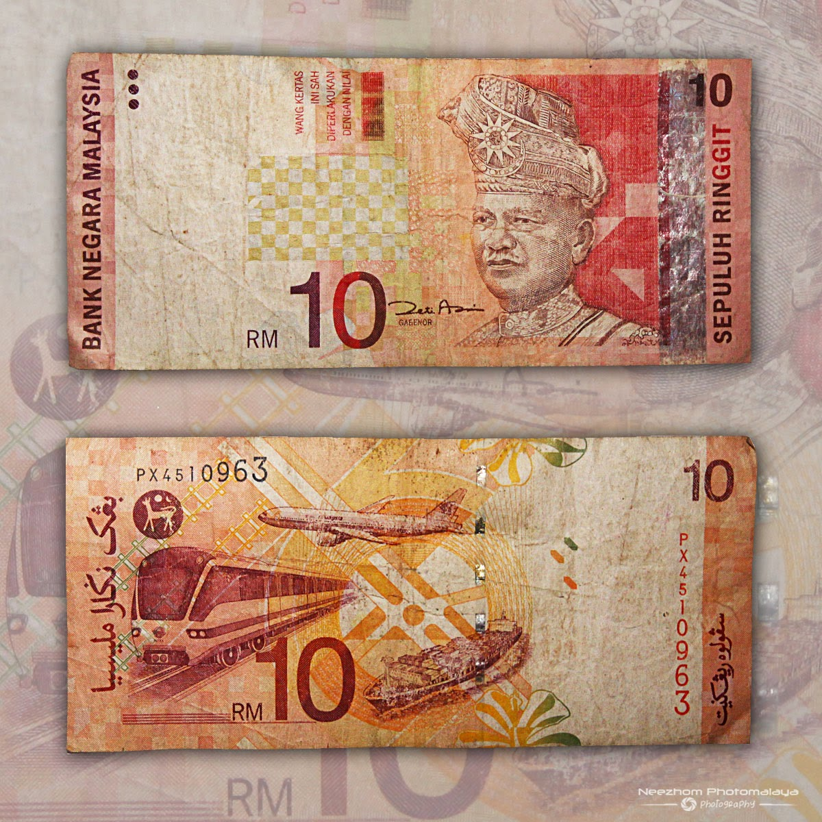 Malaysia 10 Ringgit 3rd series banknote