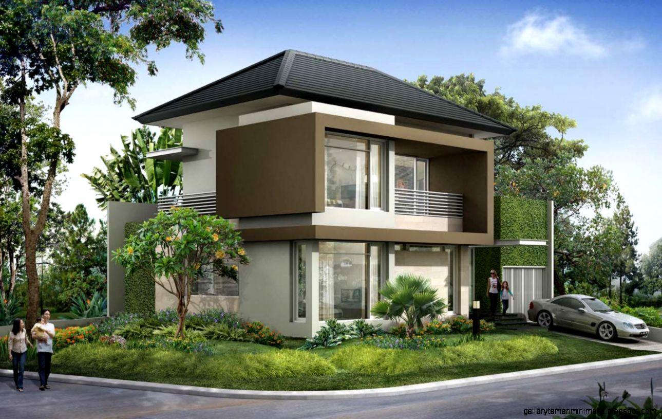 model rumah asri gallery taman minimalis