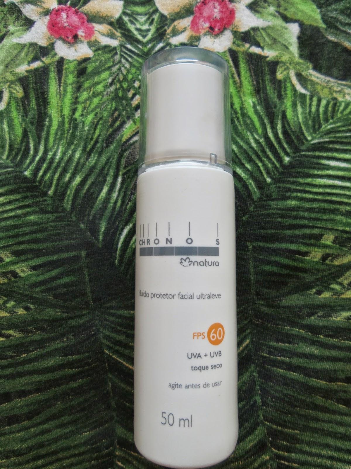 Fluido Protetor Facial Chornos Ultraleve FPS 60 Natura