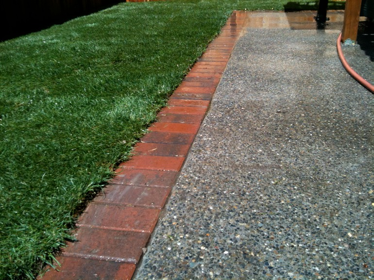 brick box image landscape brick edging