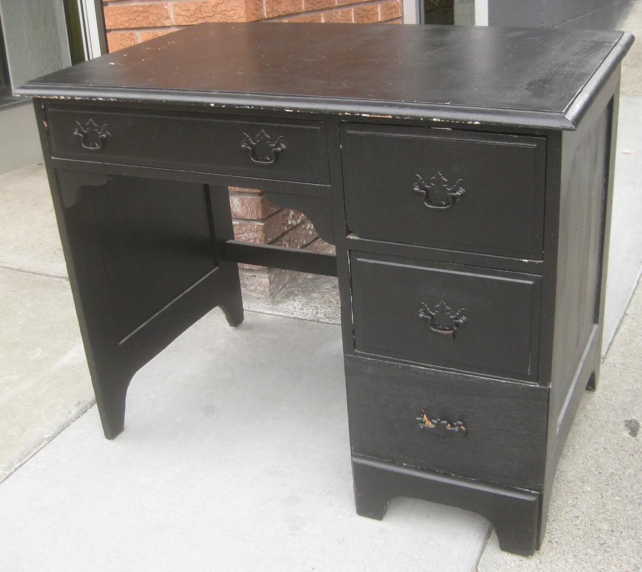 uhuru furniture collectibles sold black wooden student desk 45