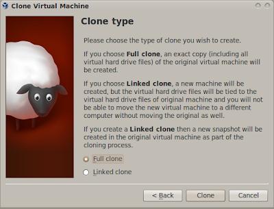 Membuat clone virtual machine