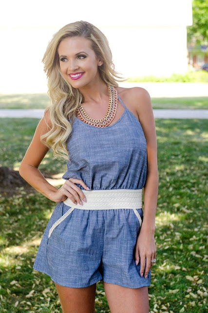 Blue Overalls With White Belt Amazing Comfy Summer Style