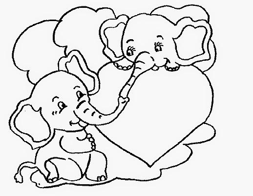Dibujos de San Valentin para Colorear, parte 4