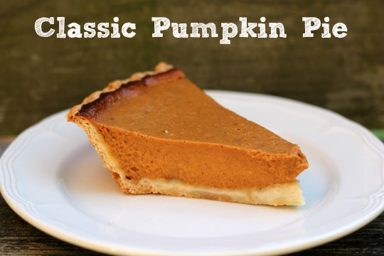 Me and My Pink Mixer: Classic Pumpkin Pie