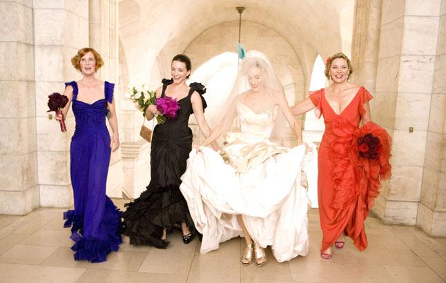 Vestidos para damas de honor en un matrimonio