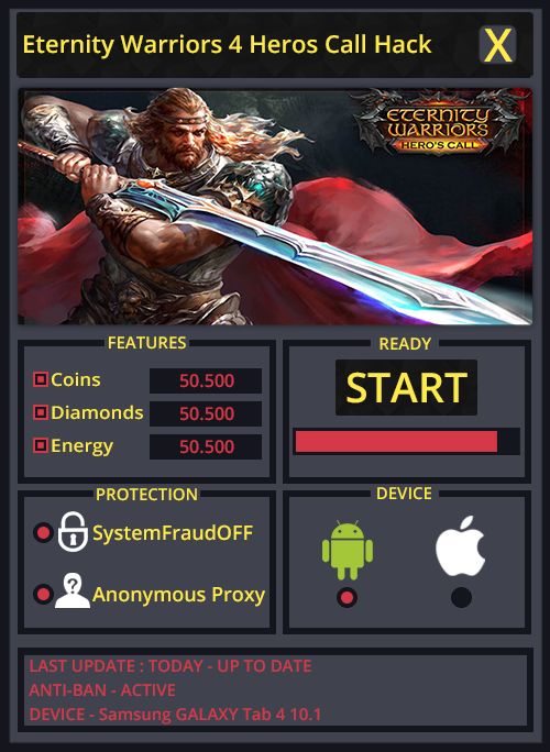 Eternity Warriors 4 Heros Call Hack