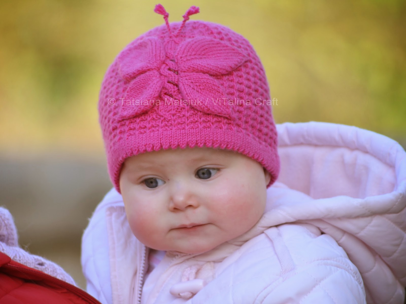 Lady Butterfly Baby Hat Knitting Pattern ViTalina Craft
