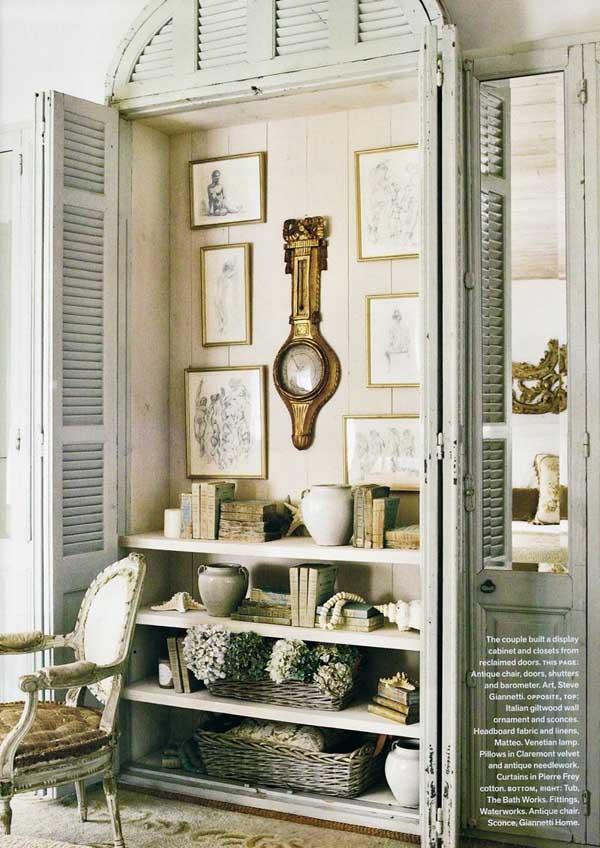 alacena empotrada con puertas de celosía  decoracion