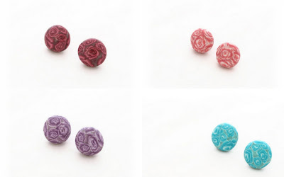 Polymer Clay Millefiori Stud Earrings handmade by Lottie Of London