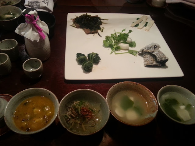 The first course- soup and starters at Sanchon