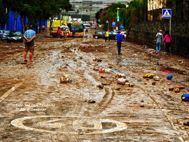 Las Palmas de Gran Canaria en zona catastrófica por pasadas lluvias