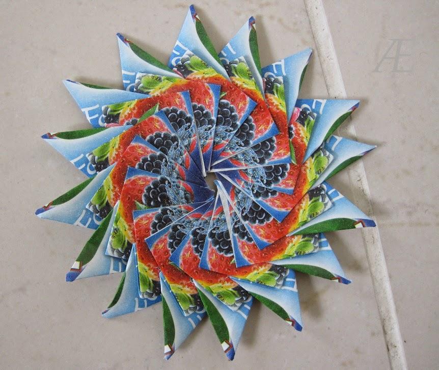 DIY origami stjerne