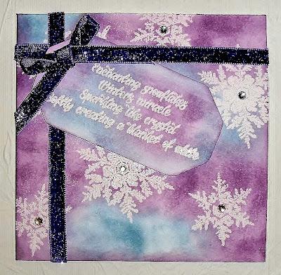 snowflakes stamps - snowflakes verse