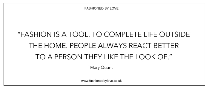 via fashioned by love | best fashion & style quotes | Mary Quant